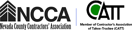Image of Associations' logos. Insulation Solutions is a proud member of both the Nevada County Contractors' Association (NCCA) and Contractor's Association of Tahoe-Truckee (CATT)